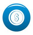 design coin icon blue vector image vector image