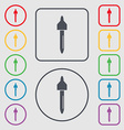 dropper sign icon pipette symbol Symbols on the vector image