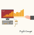 financial business plan - hand holdingidea concept vector image vector image