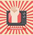 fist hand in retro television vector image