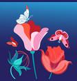 flower bright postcard vector image