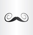 funny spiral mustaches abstract design element vector image
