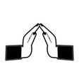 hands praying symbol vector image