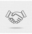 handshake icon business handshake contract vector image