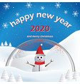 happy new year and merry christmas 2020new year vector image vector image