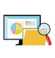 infographic technology flat icons vector image