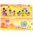 international day of african child banners set vector image vector image
