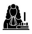 judge - gavel icon blac vector image vector image
