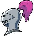 knight helmet vector image vector image