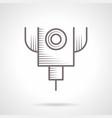 laser cut machine vintage icon vector image vector image
