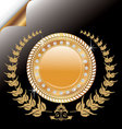 laurel wreath medallion vector image vector image