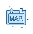 march calender icon design vector image vector image
