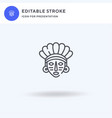 mayan icon filled flat sign solid vector image vector image
