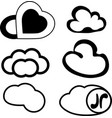 messages in the form of clouds vector image vector image