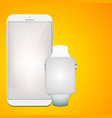 modern digital gadgets set vector image vector image