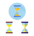 modern flat three icons of hourglasses vector image