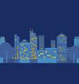 night-city-flat-design vector image