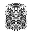 oni mecha vintage mascot logo vector image vector image