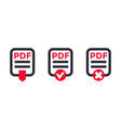 pdf file icons on white vector image