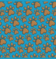 pet paws pattern background vector image