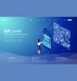 qr code scanning concept vector image