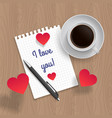 quote i love you vector image
