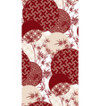 red bamboo plant japanese chinese design pattern vector image vector image