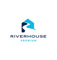 river house logo icon vector image vector image