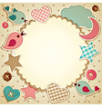 Scrapbook background vector image vector image