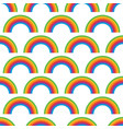 seamless pattern with rainbow symbol vector image