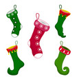 set of christmas socks icon symbol design vector image