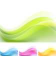 set of vibrant abstract waves backgrounds vector image vector image