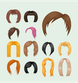 set of woman hair styling vector image