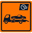 sign with truck tows vector image