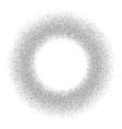 Silver circle glitter frame gray confetti dots