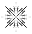 snowflake silhouette vector image vector image