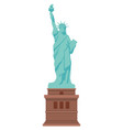 statue liberty isolated vector image