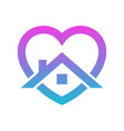 stay home heart sticker icon for quarantine vector image