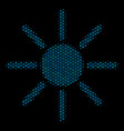 sun mosaic icon of halftone circles vector image