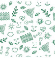 sunny day for gardening seamless pattern with vector image