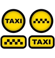 taxi signs set vector image vector image