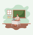 teacher in the classroom vector image