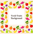 template with fruit frame vector image