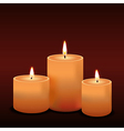 three candles vector image vector image
