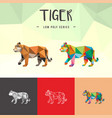 tiger chinese zodiac animals low poly logo icon vector image vector image