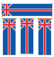uk banners vector image vector image
