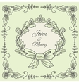 Wedding Wreath Sketch vector image vector image