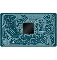 electronic circuit board vector image