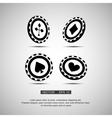 black casino chip vector image