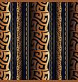 greek meanders seamless pattern grecian striped vector image